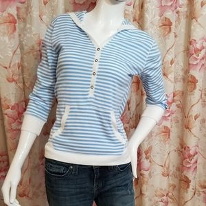 Chaps Tops - 💕Chaps Denim Top with Hoodie Size S💕
